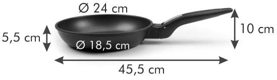 Tescoma Patelnia SmartCLICK 24 cm