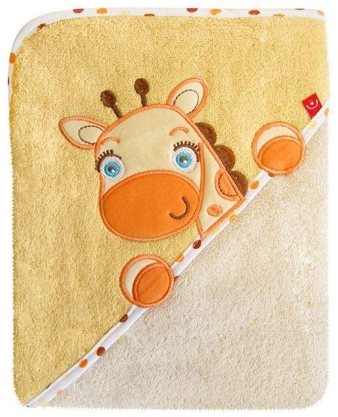 BoboBaby Dětská osuška Pelon, žlutá - žirafa