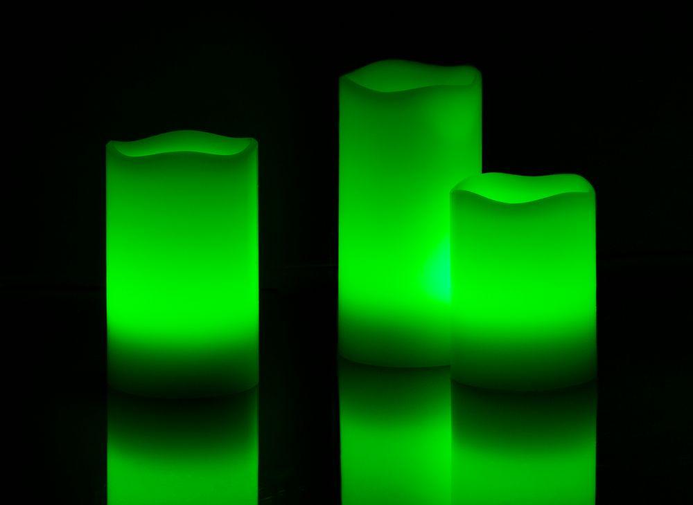 Retlux Voskové LED svíčky 3 ks barevné světlo