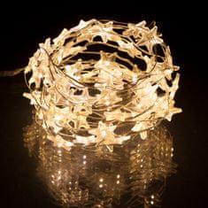 Retlux Vianočná LED reťaz hviezdy biele 3m
