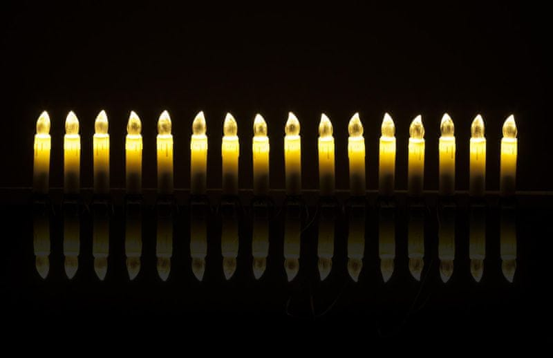 Retlux Připínací svíčky 16 LED 4,5+1,5 m, teplá bílá - II. jakost