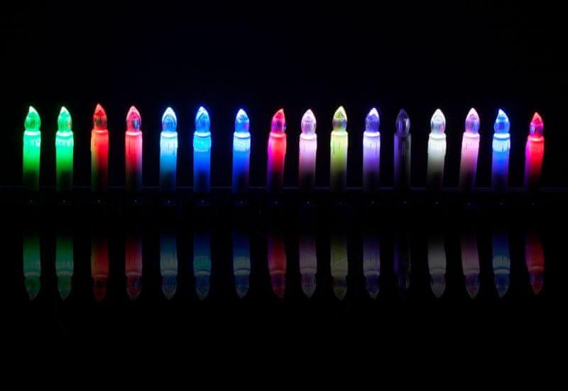 Retlux Připínací LED svíčky barevné 4,5 m