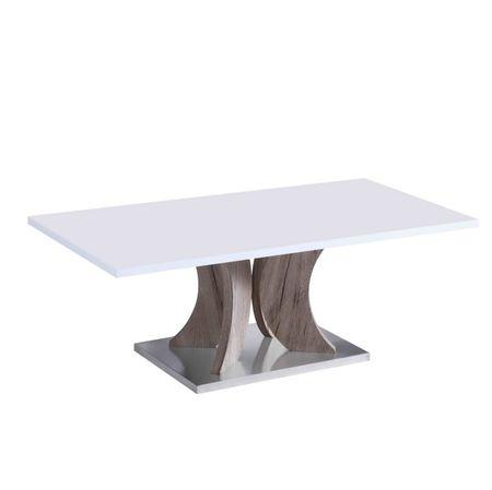 Konferenčný stolík, biela+dub sonoma, ARISTID