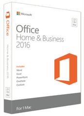 Microsoft Office Mac Home & Business 2016, FPP, angleški