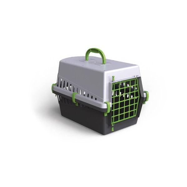 Argi Plastová přepravka s kovovou mřížkou 50 x 33 x 32 cm zelená