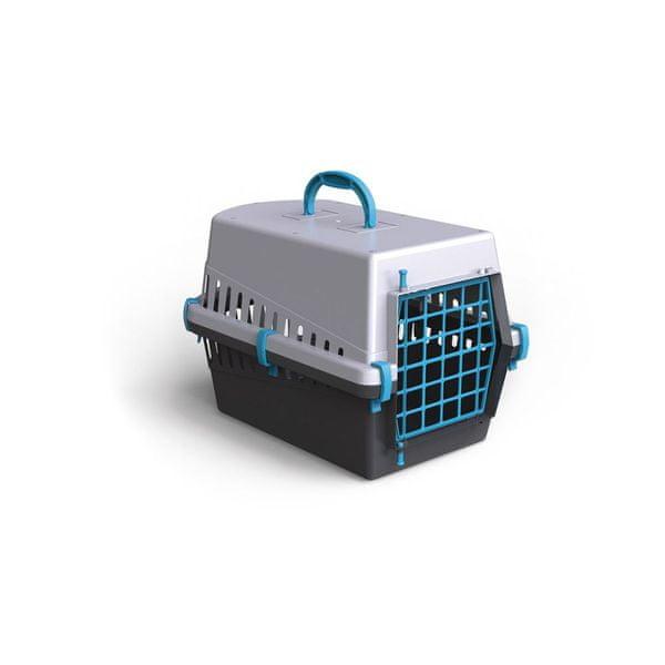 Argi Plastová přepravka s kovovou mřížkou 50 x 33 x 32 cm modrá