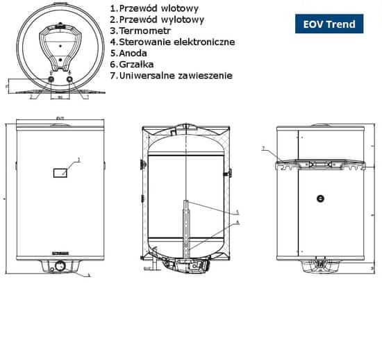 Tatramat elektryczny ogrzewacz wody EOV 120 trend