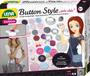 """1 - LENA Button Style """"trés chic"""" Kitűzőkészítő szett"""