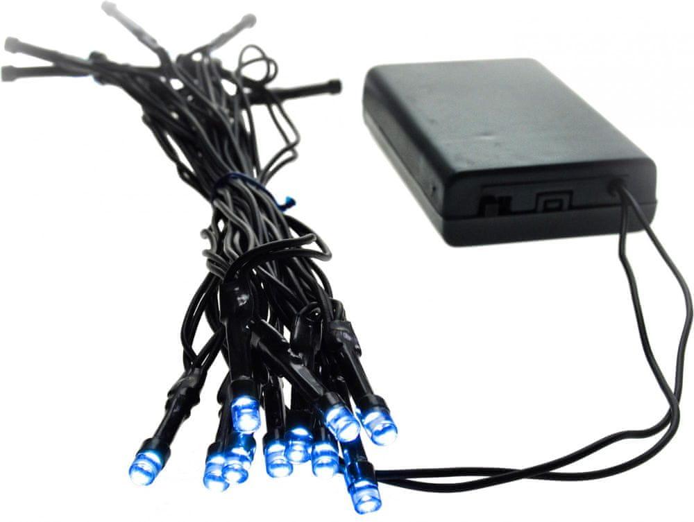 Solight LED řetěz na baterie 3 m modrá
