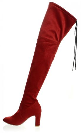 PAOLO GIANNI ženski škornji 38 rdeča