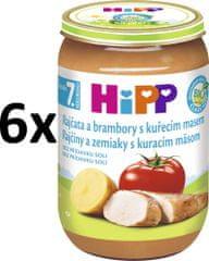 HiPP Paradajky a zemiaky s kuracím - 6x220g