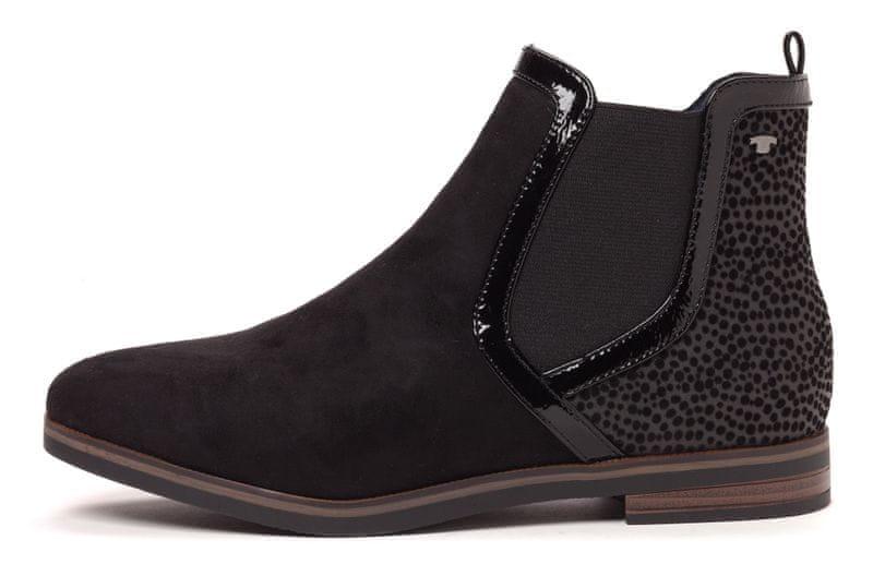 Tom Tailor dámské chelsea boty 38 černá