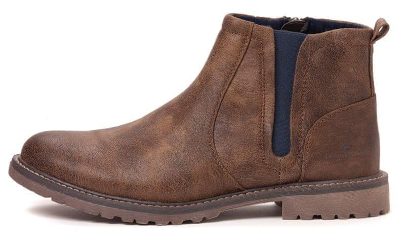 Tom Tailor pánské chelsea boty 41 hnědá