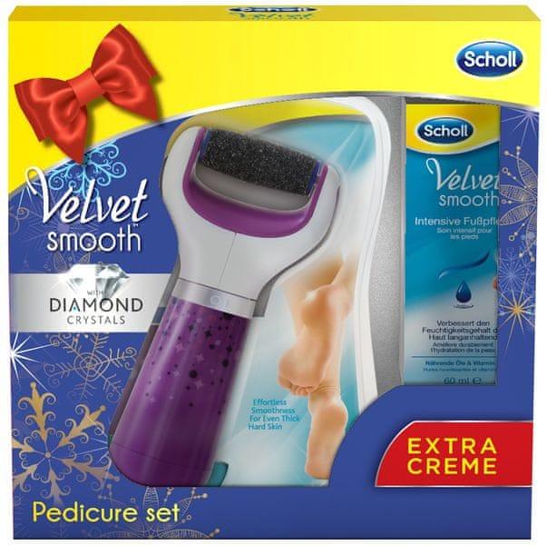 Scholl Velvet Smooth Elektrický pilník na chodidla + Noční maska 60 ml dárková sada
