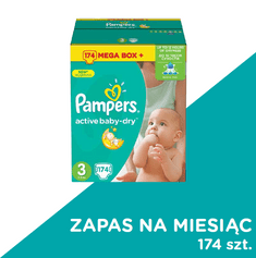 Pampers Pieluchy Active Baby 3 Midi - 174 sztuk