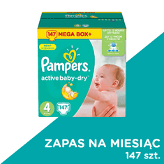 Pampers Pieluchy Active Baby rozmiar 4, 147 sztuki