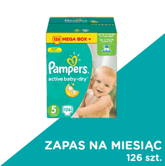 Pampers Pieluchy Active Baby, rozmiar 5 - 126 sztuk