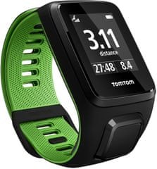 "TomTom Runner 3 Cardio GPS, black/green, ""L"""
