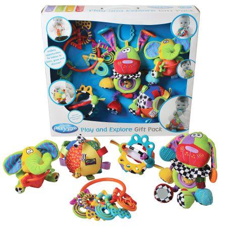 Playgro darilni set ropotuljic in didaktičnih igrač