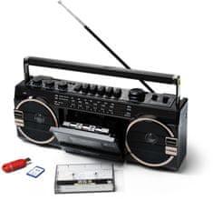 Ricatech PR1980 Ghettoblaster Rádiómagnó (Kazetta, USB, Memóriakártya)
