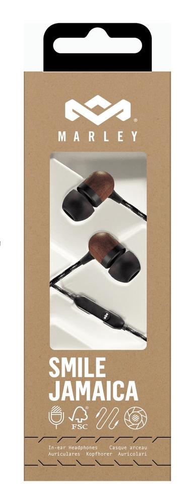 MARLEY Smile Jamaica - Signature Black sluchátka s mikrofonem