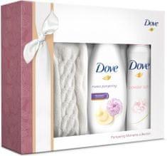 Dove Purely Pampering Peony Sprchový gel 250 ml + Antiperspirant Powder Soft 150 ml + Dámské ponožky