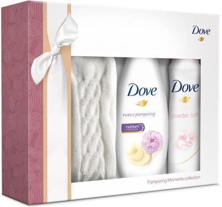 Dove zestaw Purely Pampering Peonyżel pod prysznic - 250 ml + dezodorant - 50 ml + skarpetki