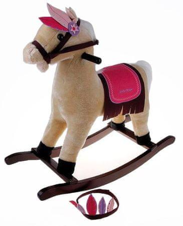 Alltoys Hojdací kôň Indián béžový