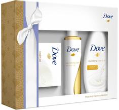 Dove zestaw Dry Oil żel pod prysznic - 250 ml + dezodorant - 50 ml + mydło - 100 g