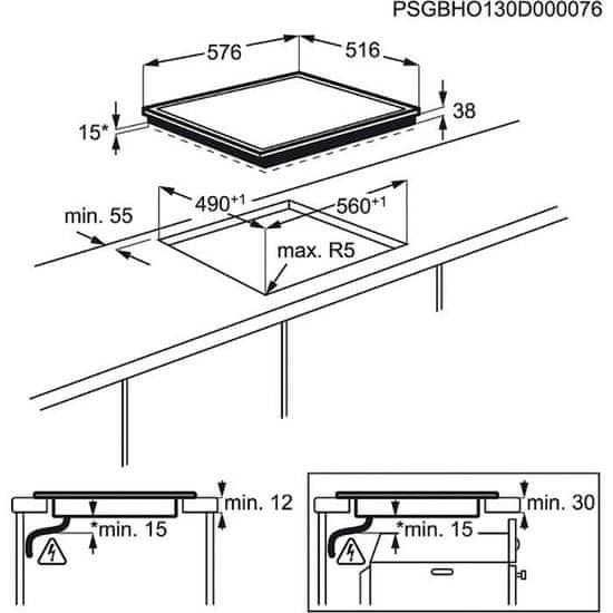 Electrolux steklokeramična plošča EHF6240XXK