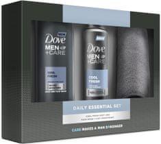 Dove Men + Care Cool Fresh s ručníkem Sprchový gel 250 ml + Antiperspirant ve spreji 150 ml Dárková sada