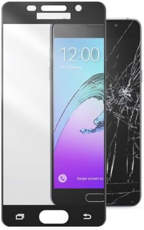 CellularLine zaščitno steklo Capsule za Samsung Galaxy A3 (2016), črno