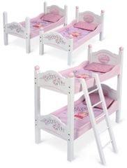 DeCuevas Drewniane łóżko piętrowe dla lalek Maria