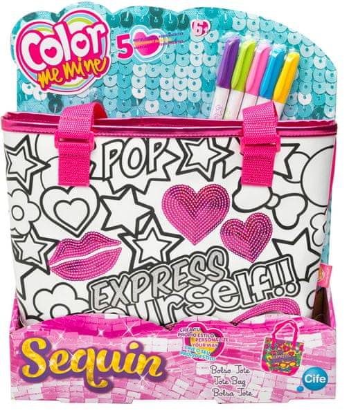 Color Me Mine Sequin Tote kabelka