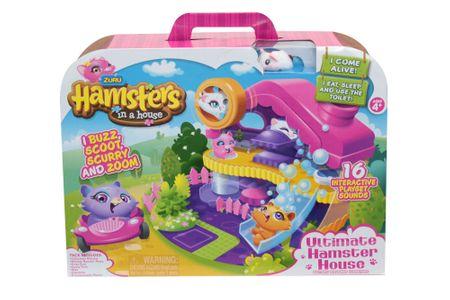 Zuru Hamster hrček in igralna hiška set na baterije 30298
