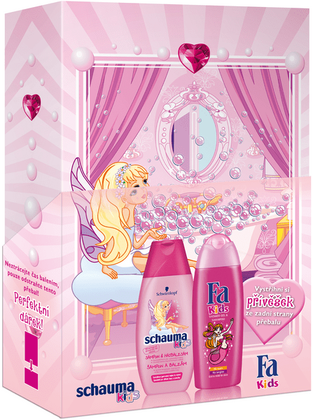 Fa Kids Mořská panna Sprchový gel pro děti 250 ml + Schauma Kids Girl Šampon 250 ml