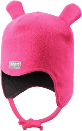 Lassie Niemowlęca czapka z uszami Beanie Neon Raspberry M