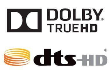 formáty Dolby TrueHD, DTS-HD Master Audio