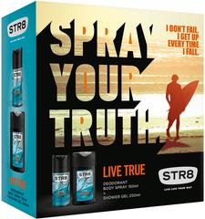 STR8 Live True DNS 85 ml + Sprchový gel 250 ml Dárková sada