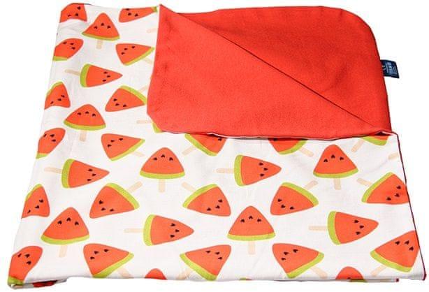 CuddlyZOO Dětská deka letní - meloun/červená