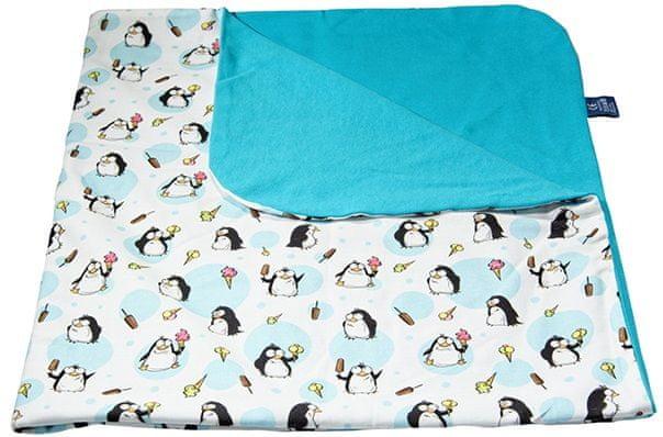 CuddlyZOO Dětská deka letní - tučňák/modrá