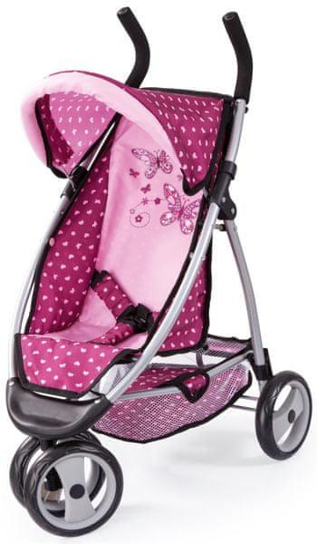 Bayer Design Jogger kočárek pro panenky světle růžová/tmavě růž