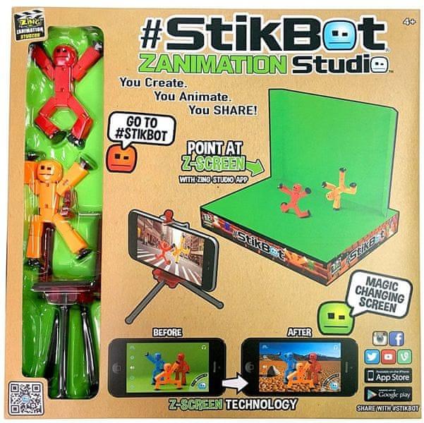 EP Line StikBot Studio - sada s klíčovacím pozadím