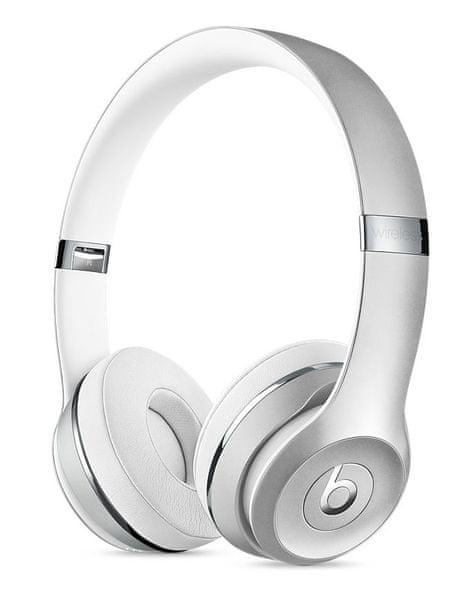 Beats Solo3 Wireless, stříbrná (MNEQ2EE/A)