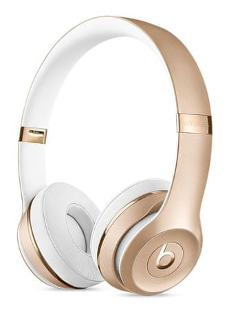 Beats slušalke Solo3 Wireless, zlate