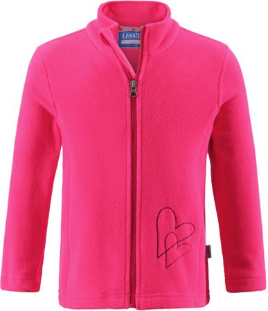 Lassie Fleece Jacket Neon Raspberry 098