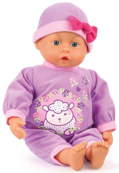 Bayer Design First Words Baby panenka fialová, 38 cm
