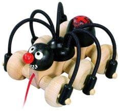 DETOA Húzós játék fekete pókkal