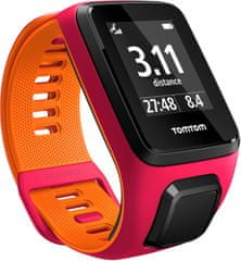 "TomTom Runner 3 Cardio + Music GPS, pink/orange, ""S"""
