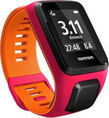 "TomTom Runner 3 Cardio GPS, pink/orange, ""S"""